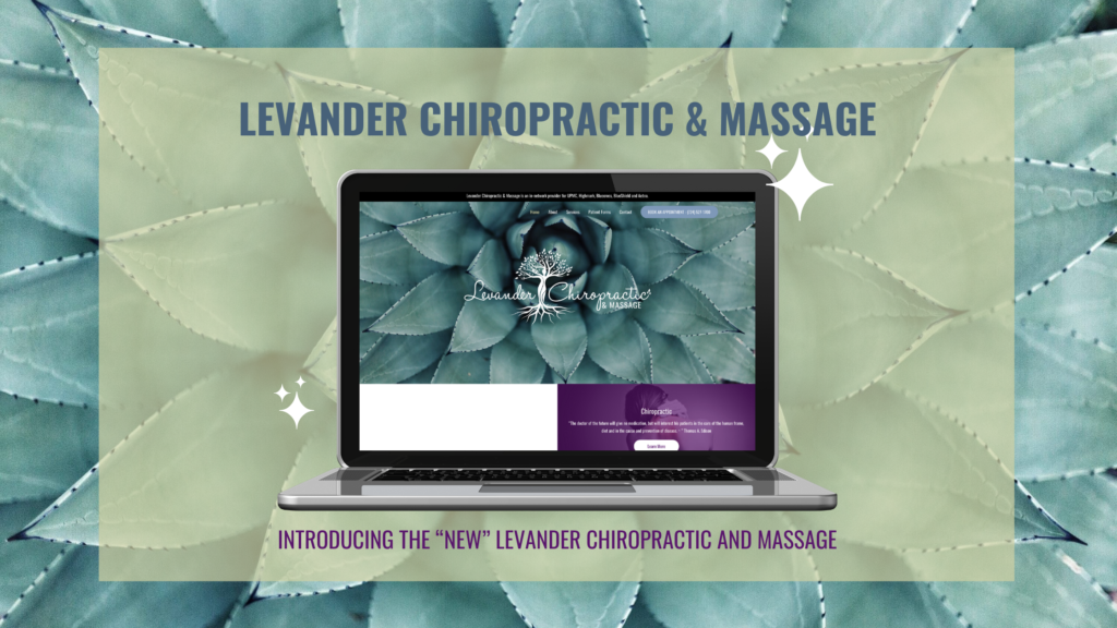 New site launch for Levander Chiropractic and Massage